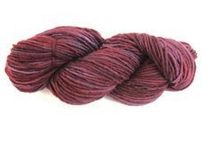 Hand Dyed Worsted Weight Yarn - Red and Purple Semisolid