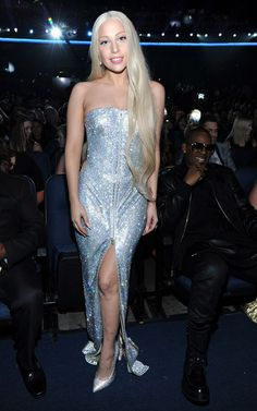 Lady Gaga in Versace dress, at AMA's