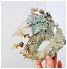 Goddess of the seas-a velvet petal mermaid mask, via Flickr.
