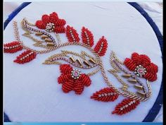 Hand Embroidery, Embroidery Designs, Crochet Tablecloth, Beadwork, Needlework, Beads, Dress, Stitching, Needlepoint