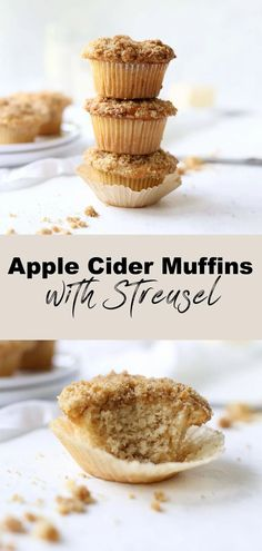 These moist Apple Cider Muffins with a sweet cinnamon streusel topping are sure to be your new favorite fall muffin recipe. vegan