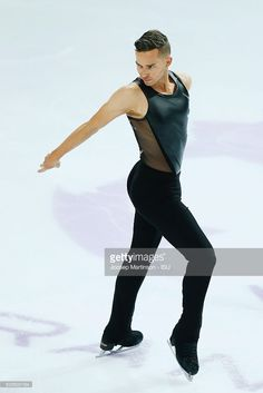 Adam Rippon of United States competes during Senior Men's Short Program on day one of the ISU Junior and Senior Grand Prix of Figure Skating Final at Palais Omnisports on December 8, 2016 in Marseille, France.