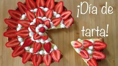 Tarta de fresas, crema de limón y chantilly de mascarpone - ¡Tarta para morirse! Raspberry, Strawberry, Fruit, Food, Almonds, Lemon Cream, Strawberry Fruit, Tarts, Mascarpone