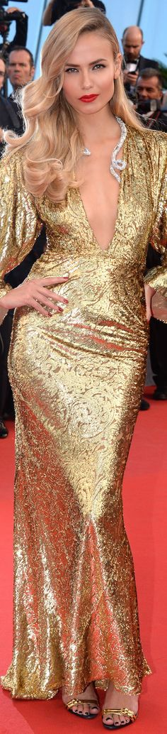 2015 Cannes Film Festival / Natasha Poly in Michael Kors.