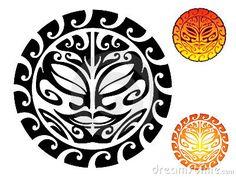 Illustration about Maori tribal sun tattoo design. Illustration of tribal, maori, ancient - 16463242 Maori Tattoos, Polynesian Leg Tattoo, Ta Moko Tattoo, Sun Tattoo Tribal, Kunst Tattoos, Polynesian Tattoo Designs, Filipino Tattoos, Maori Designs, Samoan Tattoo