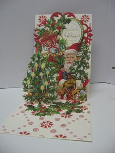 Anna Griffin Christmas Pop Up Card Kit. By Sandi Beecher 2015 Pop Up Christmas Cards, Christmas Pops, Christmas Scrapbook, Vintage Christmas Cards, Xmas Cards, Christmas Greetings, Christmas Crafts, Anna Griffin Inc, Anna Griffin Cards