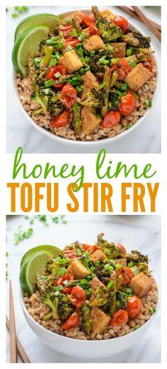 Honey Lime Tofu Stir