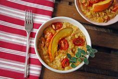 Risotto z dynią i pieczonymi pomidorkami
