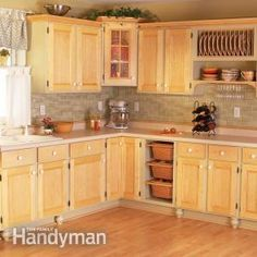 Cabinet Facelift: Remodel your kitchen at a bargain cost with these cabinet upgrades, including new doors and drawer fronts, open shelving, improved storage and painted frames. Kitchen Cabinets Upgrade, Kitchen Upgrades, Diy Cabinets, Kitchen Redo, Kitchen Dining, Kitchen Ideas, Kitchen Remodeling, Kitchen Facelift, Kitchen Storage