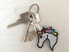 """Taschenanhänger - Schlüssel- / Taschenanhänger """"Einhorn"""" - ein Designerstück von Madamme-Julie bei DaWanda Key, Personalized Items, Store, Unicorn, Unique Key, Larger, Shop"""
