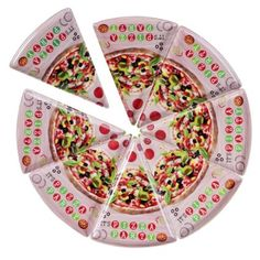 DINEWELL PIZZA SLICE PLATE (Set of 8)  sc 1 st  Pinterest & DINEWELL PIZZA SLICE PLATE (Set of 8) | Pizza Plates | Pinterest