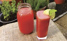 Watermelon Blast—refreshing as a virgin beverage or as a cocktail!