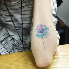 Floral Forearm Tattoo by Hongdam