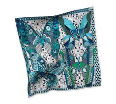 2014 F/W   Les Ailes de la Soie   Silk twill scarf, hand-rolled (90 cm x 90 cm)   Ref. H002845S 14   CA$420.00
