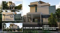 3D Visualisasi Animasi Desain Rumah di Cempaka Putih Jakarta Pusat Willis Tower, Mansions, House Styles, Building, Interior, Outdoor Decor, Modern, Home Decor, Trendy Tree