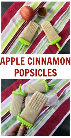 Filled with the flavors of fall, these apple cinnamon popsicles are the perfect summer treat both icy and creamy.