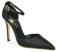 275 Central - 2 Piece Shoe - SatinTapered Toe Pump