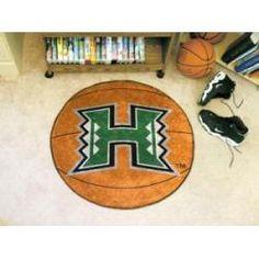 "Hawaii Warriors Basketball Rug 29"" Diameter"