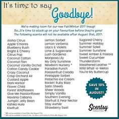 Shop 24/7 At Www.nomorewicksever.scentsy.us WIll Be Gone August 31, 2017  Make Sure You Stock Up On Your Favorite Scent. | Pinterest | Scentsy