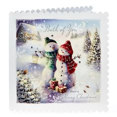 Exquisite Collection Christmas Card - Both Of You, Snowmen | Card Factory