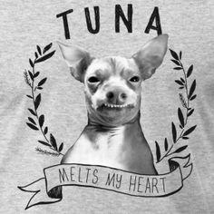 Tuna the dog; AKA: PTHEVEN   Please rescue, never buy! Tunameltsmyheart Crest | Tuna Melts My Heart