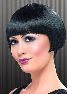 #Womens 20's flapper bob wig short black fancy dress #gangster straight #vampire,  View more on the LINK: http://www.zeppy.io/product/gb/2/251975504882/