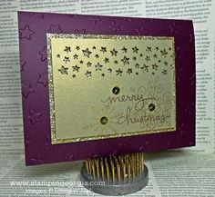 Add Some Sparkle to Your DIY Christmas Card!  Details on my blog! www.stampingeorgia.com