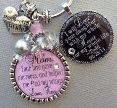 MOTHER of the BRIDE gift PERSONALIZED mother of the by buttonit