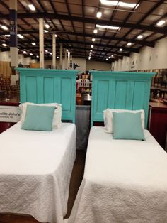 Twin Headboards made out of old doors! Homelite Johns in Mississippi! 601-427-5028