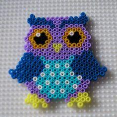 Owl hama mini beads by paularo2015