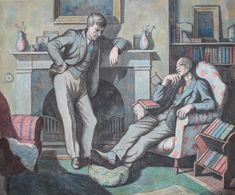 Ravilious & Bawden portrait acquired by NPG; the portrait, in watercolour, is a rare early work (1933) by Michael Rothenstein, who knew the pair well in the 1930s and would later establish himself as a major part of the small community of artists at Great Bardfield - the Essex village made famous by Ravilious and Bawden.