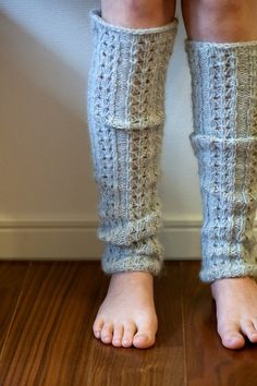 hand knitted leg warmers