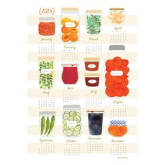 My Frugal Home tea towel calendar, $18 #madeinusa #madeinamerica