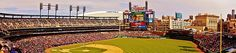Inside Pano of Comerica Park Day Game