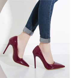 Classic Women Sexy Stilleto Office High Heels Pumps Shoes Pointed Toe Red ITC912 - Heels