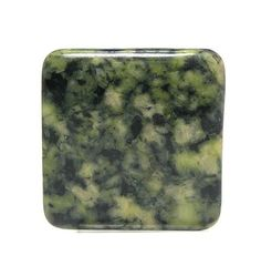 Green Serpentine New Jade Square Stone Cabochon by FenderMinerals