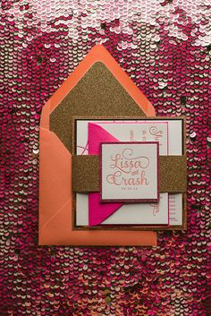 Stylishly gorgeous wedding invitations, and other lovely details! Check out modwedding for these invitations