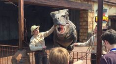Animatronic T-Rex Walkabout- 'Great day yesterday at the VIP opening of the #LostKingdom @paultonspark' @themesparx