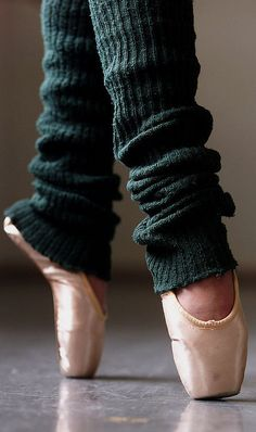 Toe shoes and leg warmers.