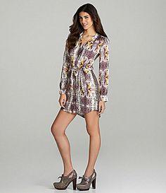 Chelsea and Violet Sequin Print Shirt Dress #Dillards