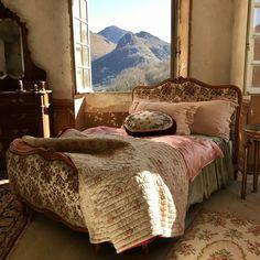French Antique Bed Quilt – Shop The Chateau Chateau De Gudanes, Antique Beds, Quilt Bedding, French Antiques, Romantic Bedrooms, Quilts, Shop, Furniture, Home Decor
