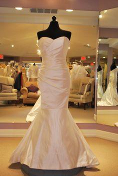 Simone Carvalli Bridal Gown Style 7021 white size 12