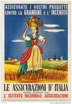 Vintage Italian Posters - Le Assicurazioni d'Italia