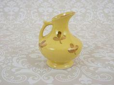 Vintage Vase miniature Vase Ceramic Yellow by TheOrangeCollective, $14.95