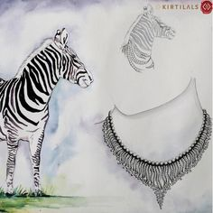 Drawing inspiration from the design pattern of a Zebra, here is a beautiful neckpiece sketched specially for you! #ArtistsInspiration