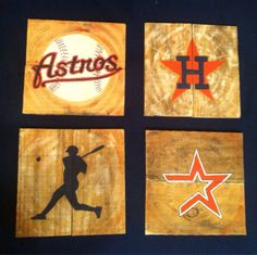Astros Wall Tiles by VersesRusticDecor on Etsy, $75.00