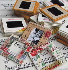 Vintage slides turned into whimsical little frames.
