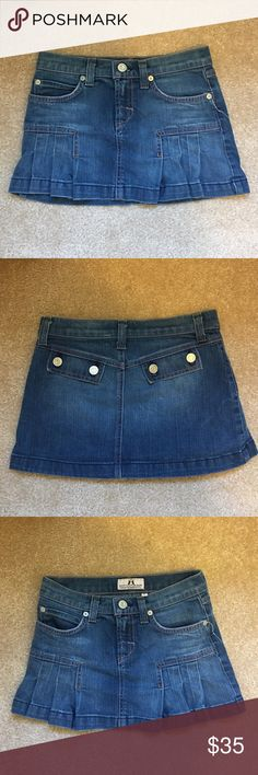 Juicy Couture denim skirt Adorable Juicy Couture school girl denim skirt. Worn just a handful of times. Mint condition! Juicy Couture Bottoms Skirts