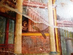 Fresco with theater mask in the Villa of Poppaea.