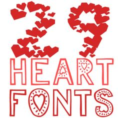 valentine free fonts (My juleslove font included - officially available from my site only, http://artgrowlove.com/free-fonts/ )